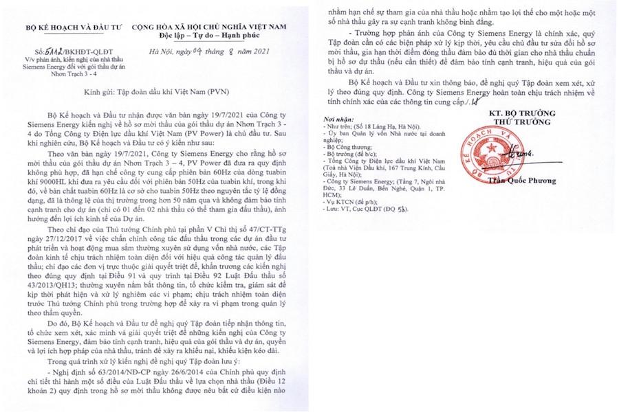 """Bộ Kế hoạch và Đầu tư, Bộ Công thương vào cuộc vụ """"lùm xùm"""" về đấu thầu tại dự án Nhơn Trạch 3-4"""